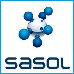 Sasol emblem - blue box 3