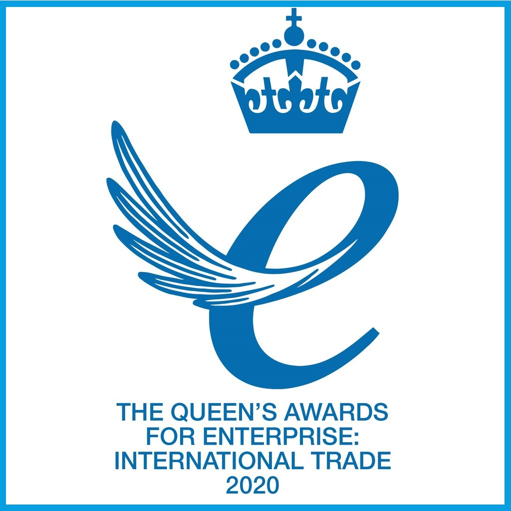 Queens award - blue box
